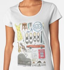 La La Land Illustration Jazz Saxophone Music Musical  Women's Premium T-Shirt