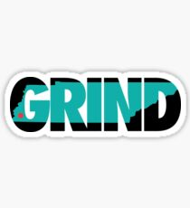 Grind State (Black/Teal) Sticker