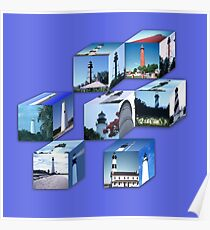 Lighthouse Cubes Poster