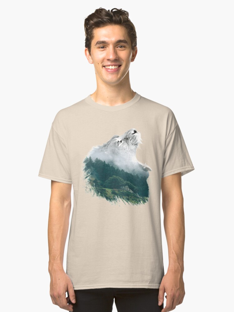 Lion: Nature's Awesome King Cool Gift Shirt Classic T-Shirt Front