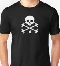 Skull and Cross Fitness Design T-Shirt