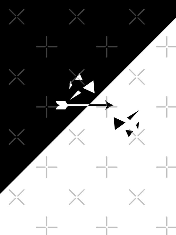 Black vs White Arrow Geometric Triangle by LemoBoy