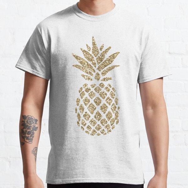 Gold Glitter Pineapple Classic T-Shirt