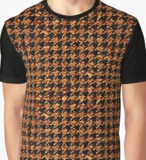 HOUNDSTOOTH1 BLACK MARBLE & COPPER FOIL Graphic T-Shirt
