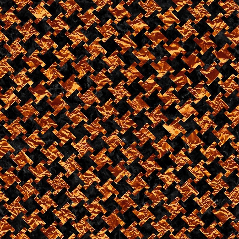 HOUNDSTOOTH2 BLACK MARBLE & COPPER FOIL by johnhunternance
