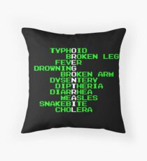 Oregon Trail - Ways to Die in the West Throw Pillow