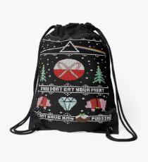 Hey Yule - Pink Christmas Drawstring Bag