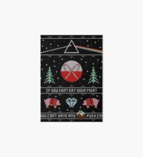 Hey Yule - Pink Christmas Art Board Print