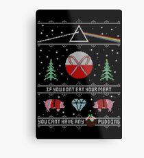 Hey Yule - Pink Christmas Metal Print