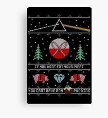 Hey Yule - Pink Christmas Canvas Print