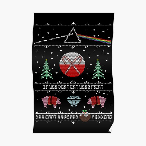 Hey Yule - Pink Christmas Poster