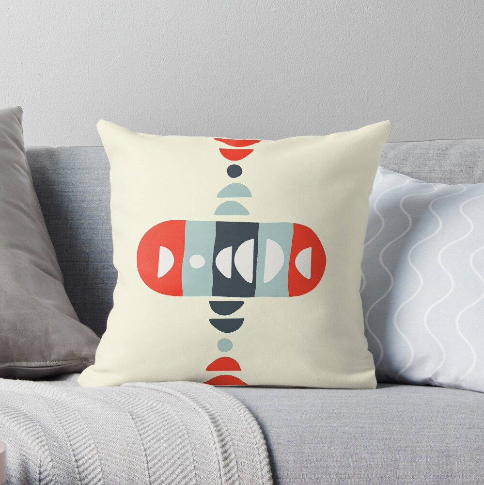 Storm Calka Modern  Throw Pillow