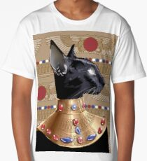 Bastet Goddess In Gold Long T-Shirt