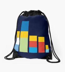Simpsons on the Block Drawstring Bag