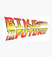 Bike to the future Photographic Print