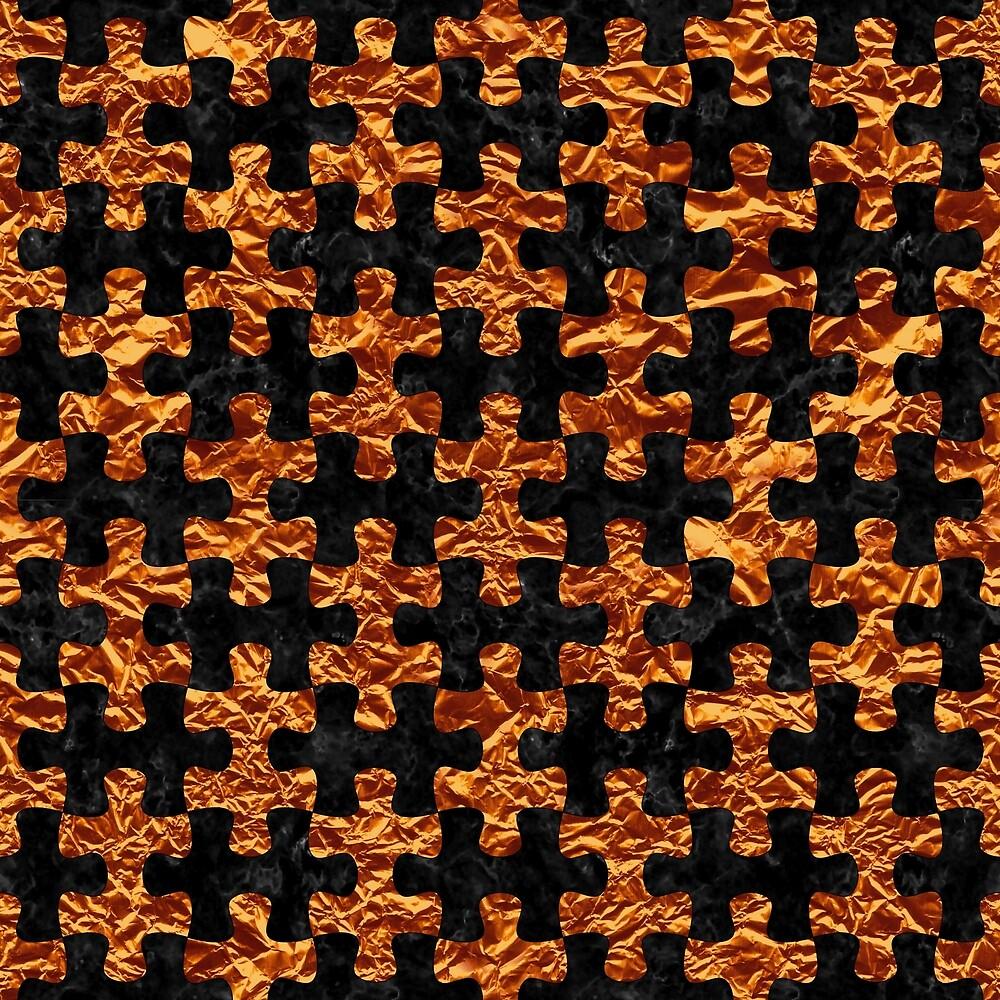 PUZZLE1 BLACK MARBLE & COPPER FOIL by johnhunternance