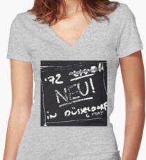 Neu - Dusseldorf 72 Women's Fitted V-Neck T-Shirt