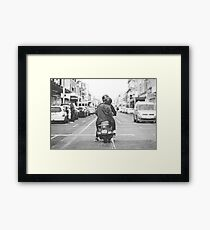 Scooter on Smith Street Framed Print