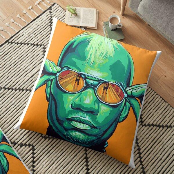 Green Velvet Floor Pillow
