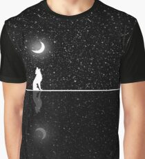 Starry Night  - Howling Wolf Graphic T-Shirt