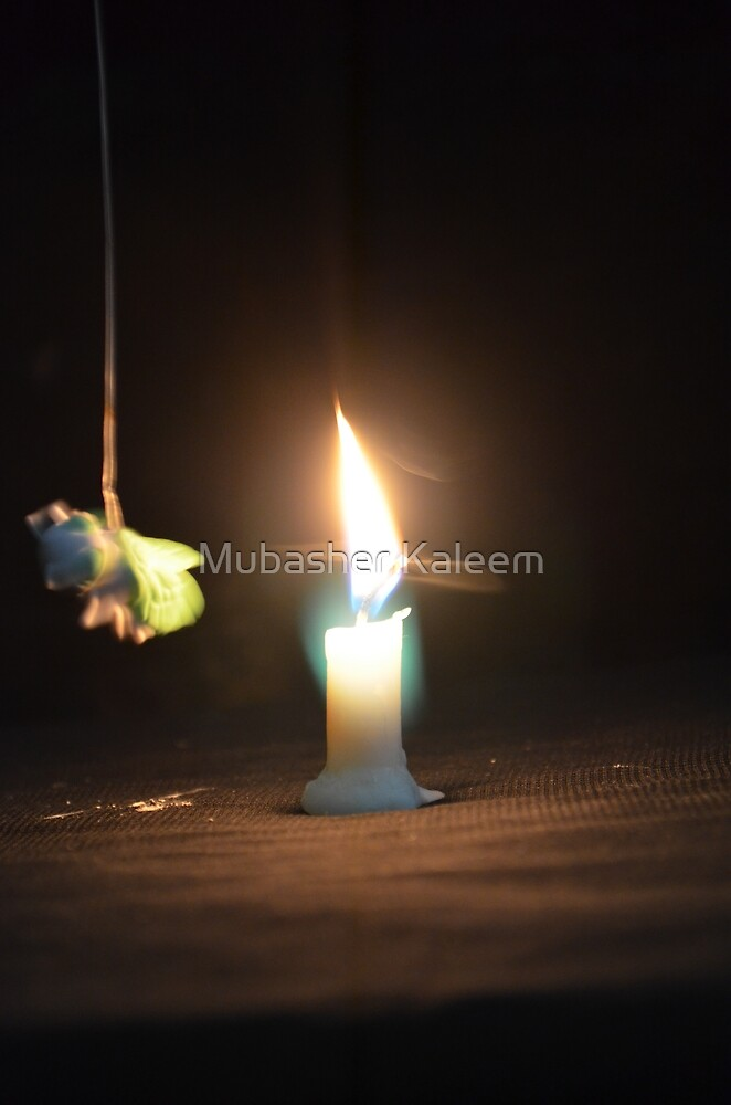 Candle and Moth 2 by Mubasher Kaleem
