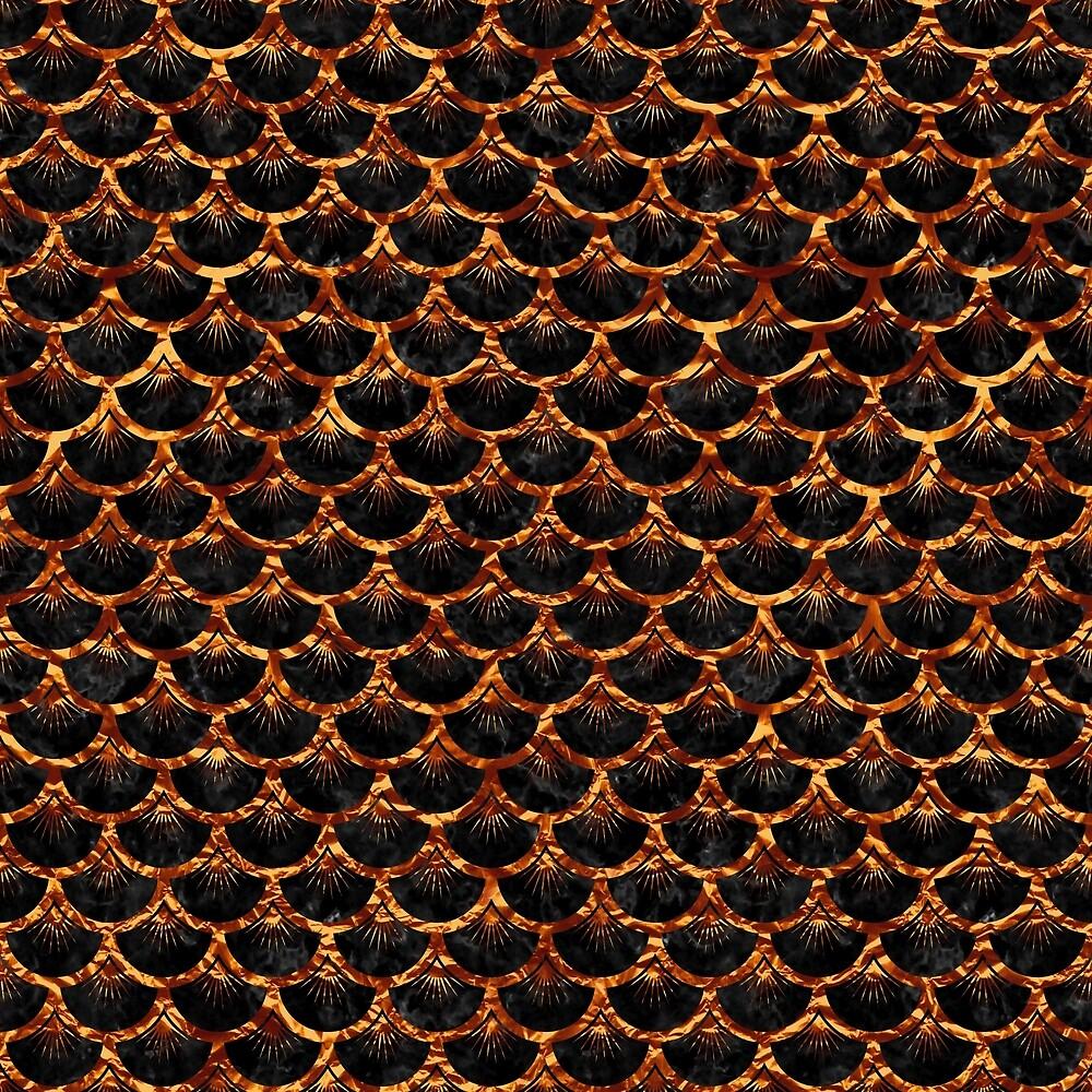 SCALES3 BLACK MARBLE & COPPER FOIL by johnhunternance