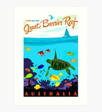 AUSTRALIA : Great Barrier Coral Reef Print Art Print