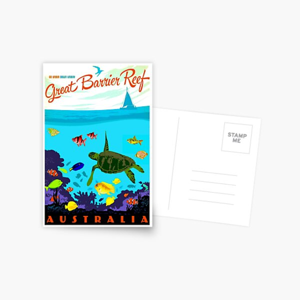 AUSTRALIA : Great Barrier Coral Reef Print Postcard