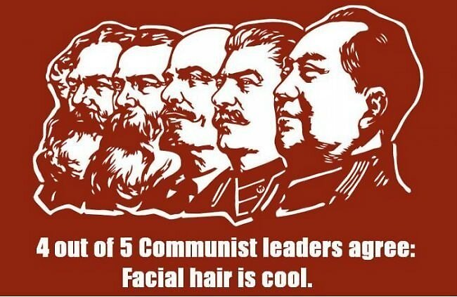 4 out of 5 Communist leaders agree - Facial hair is cool by tylorova