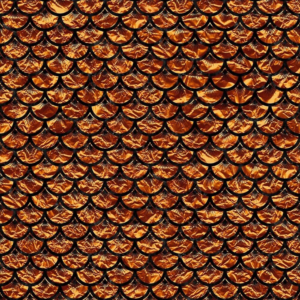 SCALES3 BLACK MARBLE & COPPER FOIL (R) by johnhunternance