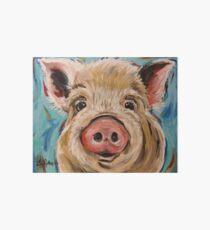 """Pig art, """"Octavia"""" by Lee Keller Art Board Print"""