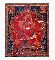 Dancing Red Ganapati Of The 3 Red Deities Photographic Print