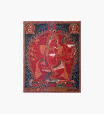 Lámina de exposición Ganapati rojo de baile de los 3 Deidades Rojas