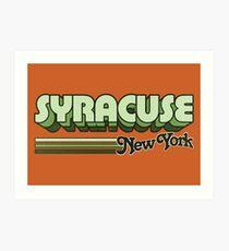 Syrakus, NY | Stadt Streifen Kunstdruck