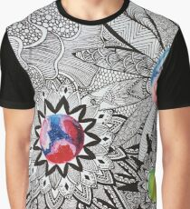 Cosmic Floral Graphic T-Shirt