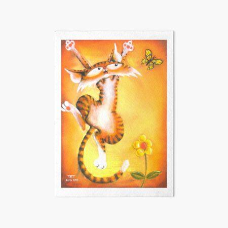 Jac Cat is Back Art Board Print