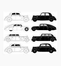 Set of vintage cars Photographic Print