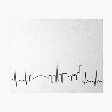 Toronto Heartbeat Art Board Print