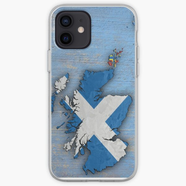 Flag Map of Scotland iPhone Soft Case