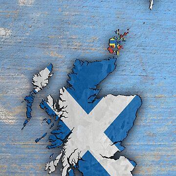 Flag Map of Scotland by Hughbris