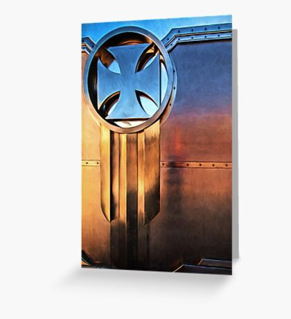 Gate at West Coast Choppers Greeting Card