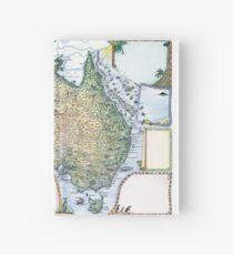 Australia Pictorial Map by Journey Jottings Hardcover Journal