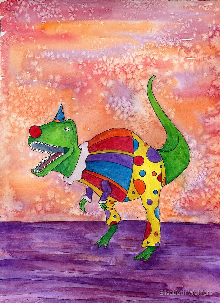 Wesley the Clown Dinosaur by Elisabeth Wellfare