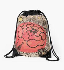 Flowers on Mars Drawstring Bag