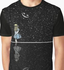 Alice In Wonderland Starry Night Graphic T-Shirt