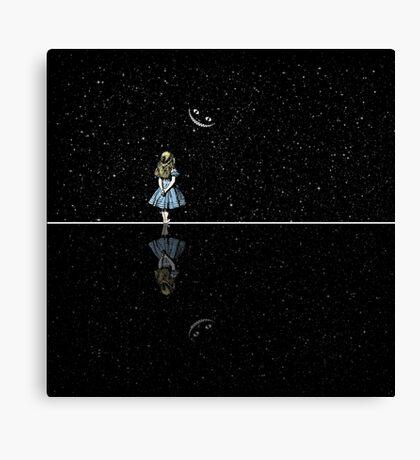 Alicia en el país de las maravillas noche estrellada Lienzo