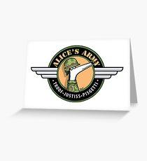 Alice's Army! (profits to Greyhound Adoption Program New South Wales) Greeting Card