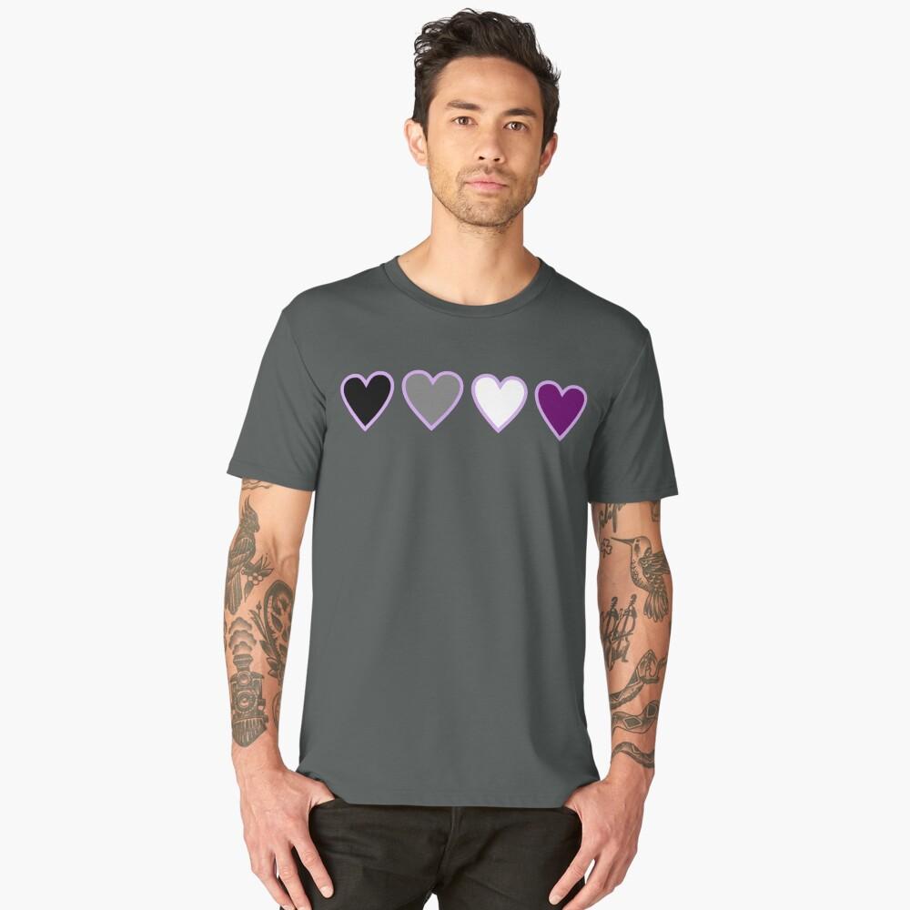 ace pride hearts Men's Premium T-Shirt Front