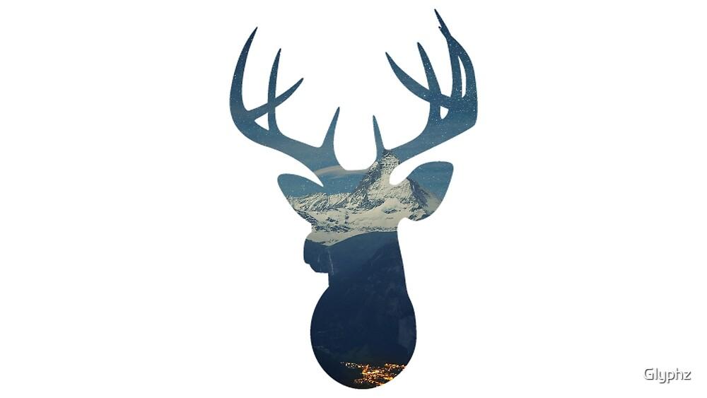 Deer in the Alps by Glyphz