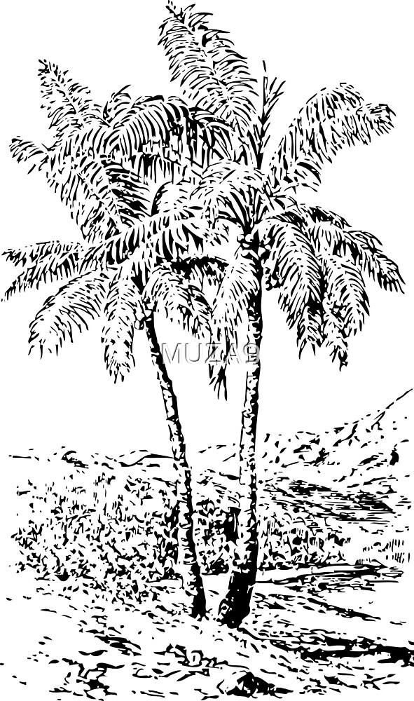 Vintage Palmtrees by MUZA9